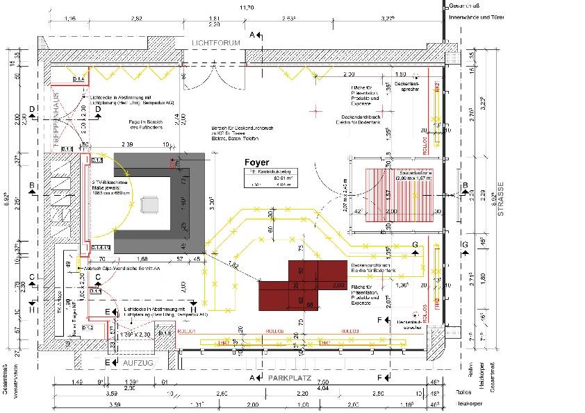 Grundriss des foyers mit alten tresen seitlich des for Grundriss eingang seitlich