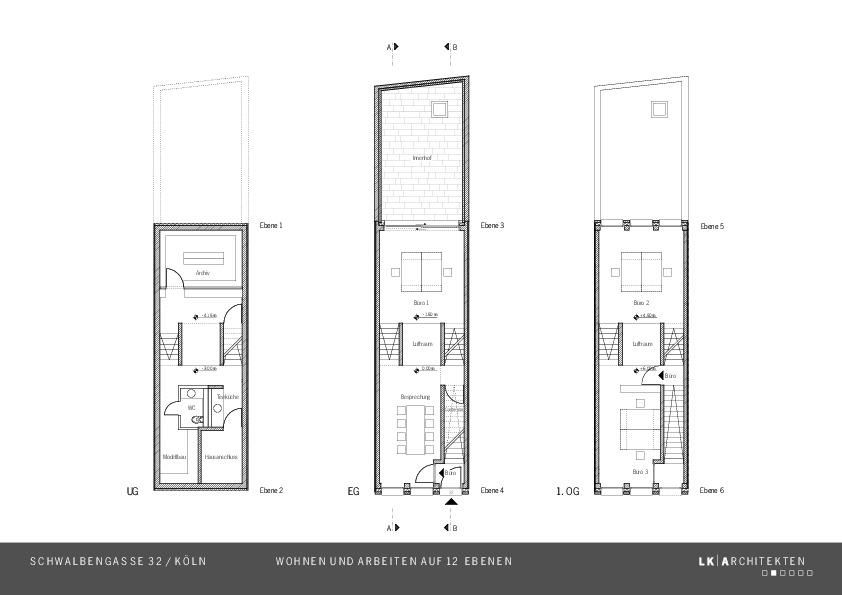 grundrisse arbeiten stadthaus schwalbengasse wohnen. Black Bedroom Furniture Sets. Home Design Ideas