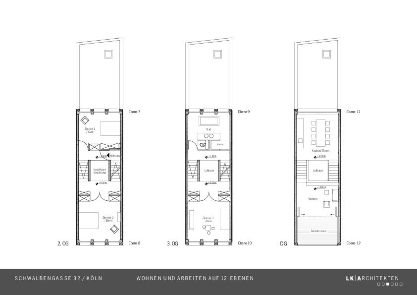 grundrisse wohnen stadthaus schwalbengasse wohnen und arbeiten auf zw lf ebenen. Black Bedroom Furniture Sets. Home Design Ideas