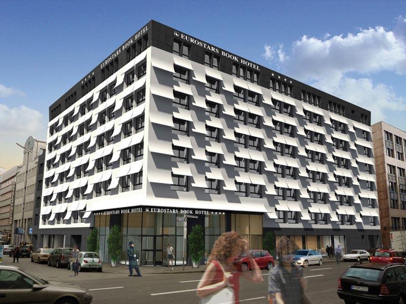 die gestaltung des eurostars book hotels in m nchen hat sich dem thema literatur gewidmet die. Black Bedroom Furniture Sets. Home Design Ideas