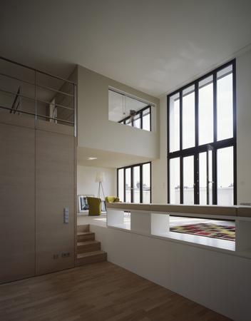 penthouse maisonette wohnung blick essbereich wohnen. Black Bedroom Furniture Sets. Home Design Ideas