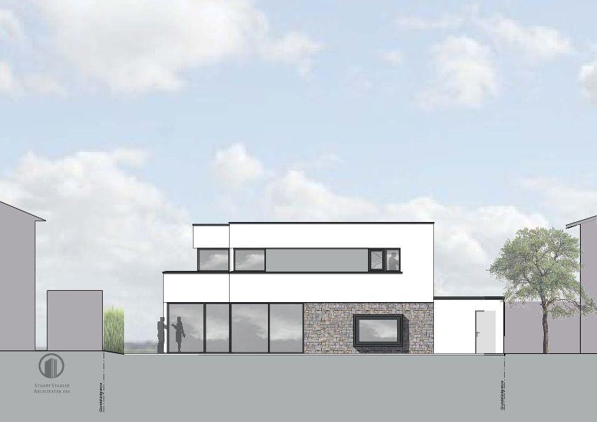 w6 ansicht ost w6 neubau eines wohnhauses mit garage in. Black Bedroom Furniture Sets. Home Design Ideas