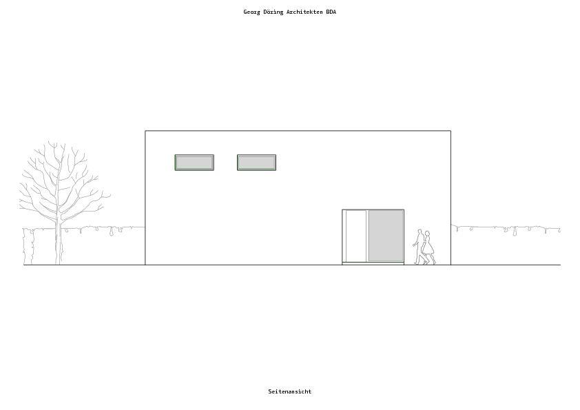 seitenansicht neubau einfamilienhaus in d sseldorf. Black Bedroom Furniture Sets. Home Design Ideas