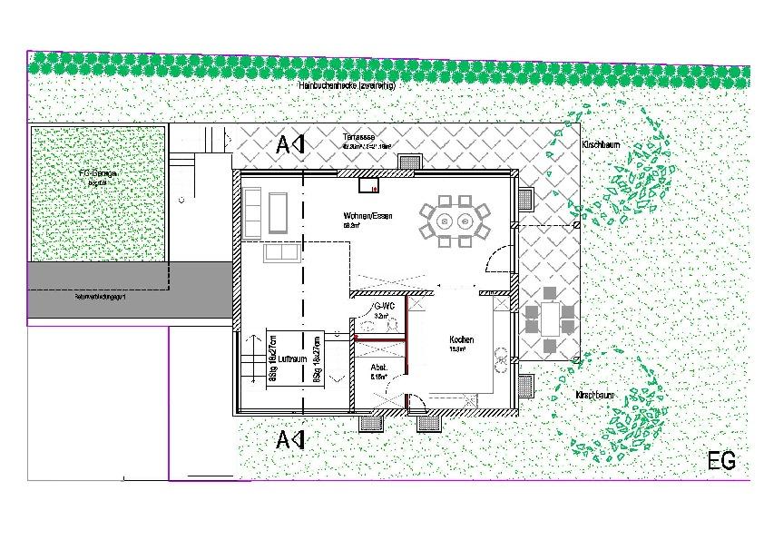 erdgeschoss haus f r zwei in odenheim architekturobjekte. Black Bedroom Furniture Sets. Home Design Ideas