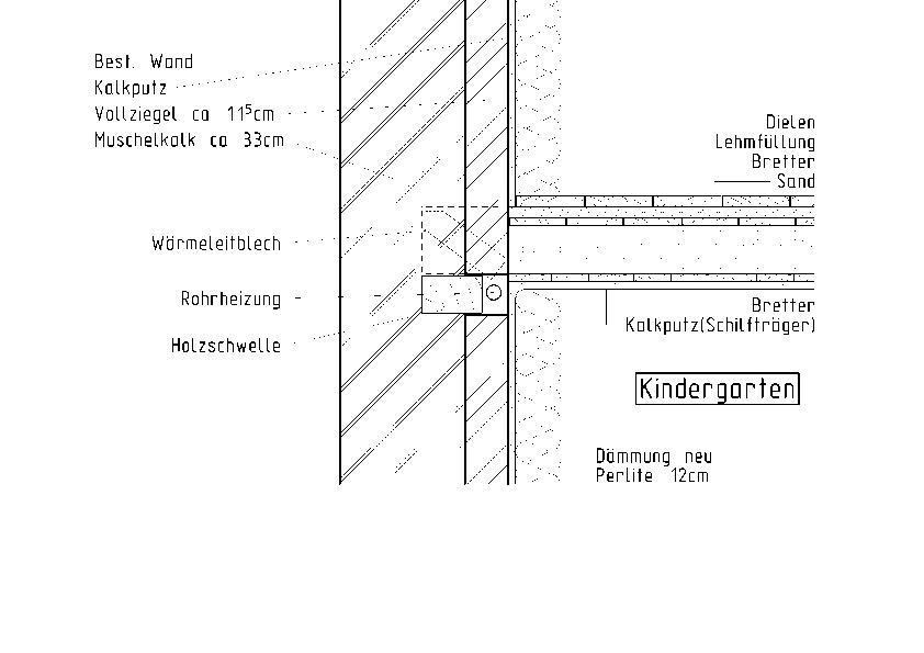 aufbau der au enwand mit der innend mmung 12 cm temtem insulation board indoor und anschluss an. Black Bedroom Furniture Sets. Home Design Ideas