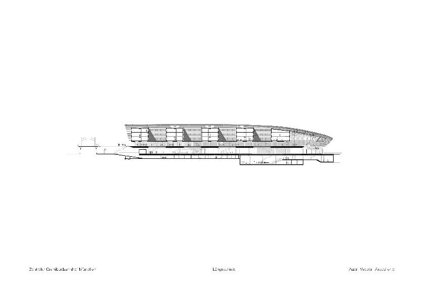 schnitt zentraler omnibusbahnhof in m nchen. Black Bedroom Furniture Sets. Home Design Ideas