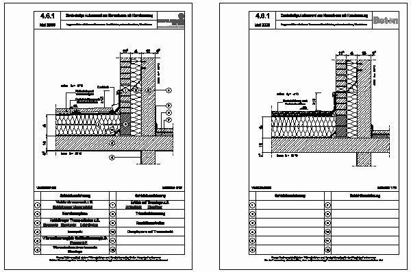 cad detail 4 6 1 loggien erker balkone terrassen durchfahrten unterer anschluss wandeben. Black Bedroom Furniture Sets. Home Design Ideas