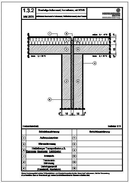 Cad detail 1 3 2 einbindende innenwand in au enwand geb udetrennwand ohne versatz - Beton innenwand ...