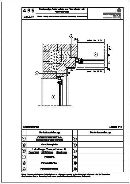 Cad detail 4 8 9 fenster laibung zwei fenster in for Fenster cad detail