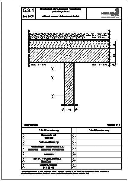 Cad detail 5 3 1 einbindende innenwand in kellerau enwand einschalig heidelberger beton - Beton innenwand ...