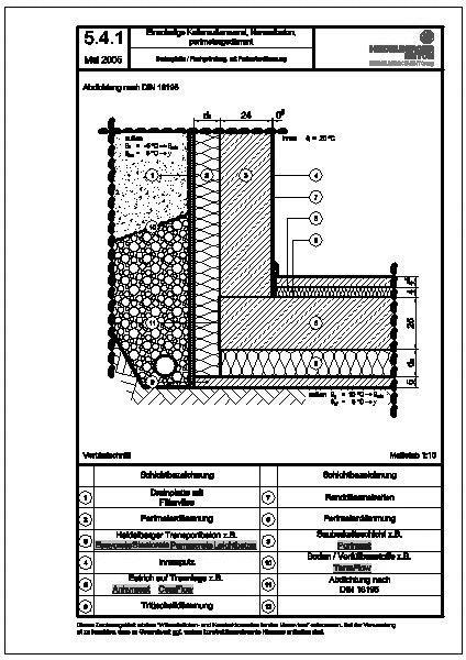 cad detail einschalige kellerau enw nde aus normalbeton perimeterged mmt heidelberger beton. Black Bedroom Furniture Sets. Home Design Ideas
