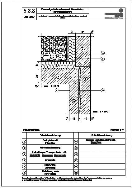 Cad detail 5 3 3 einbindende innenwand in kellerau enwand geb udetrennwand mit versatz - Beton innenwand ...