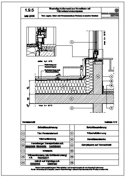 Dachfenster detail flachdach  Heinze CAD-Manager