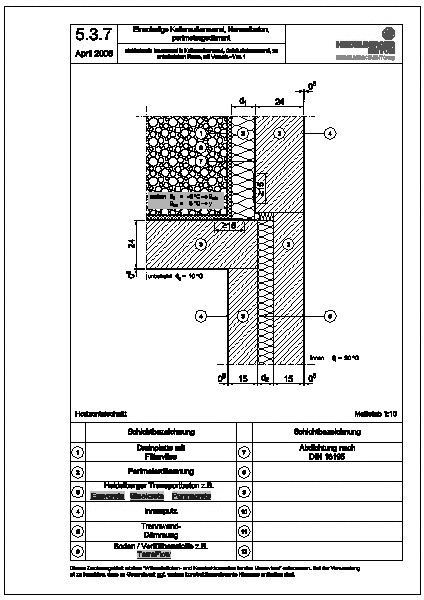 Cad detail 5 3 7 einbindende innenwand in kellerau enwand geb udetrennwand zu unbeheizt 1 - Beton innenwand ...