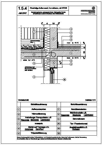 Cad detail 1 5 4 thermisch getrennte auskragende decke for Fenster cad detail