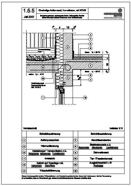 Cad detail 1 5 5 thermisch getrennte auskragende decke for Fenster cad detail