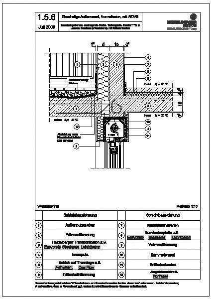 Tür detail  CAD-Detail|1.5.6_thermisch getrennte, auskragende Decke ...