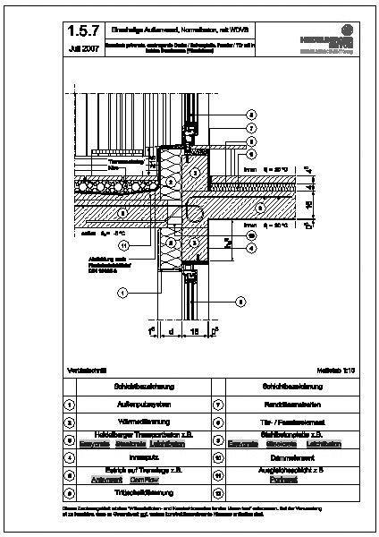 Haustüranschluss detail  CAD-Detail|1.5.7_thermisch getrennte, auskragende Decke ...