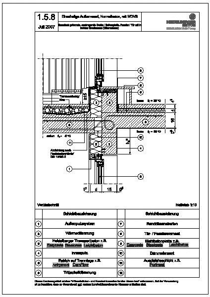 Türanschluss detail außentür  CAD-Detail|1.5.8_thermisch getrennte, auskragende Decke ...