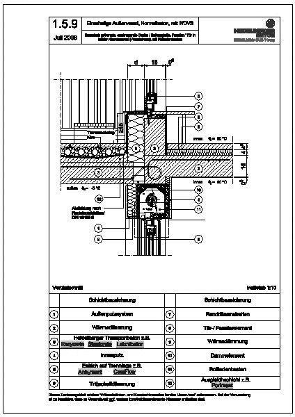 Türanschluss detail außentür  CAD-Detail|1.5.9_thermisch getrennte, auskragende Decke ...