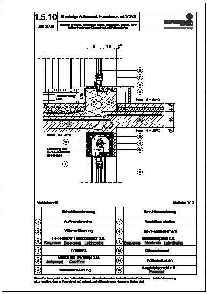 Tür detail  CAD-Detail|1.5.10_thermisch getrennte, auskragende Decke ...