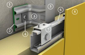 aluminium unterkonstruktion facatec f r vorgeh ngte. Black Bedroom Furniture Sets. Home Design Ideas