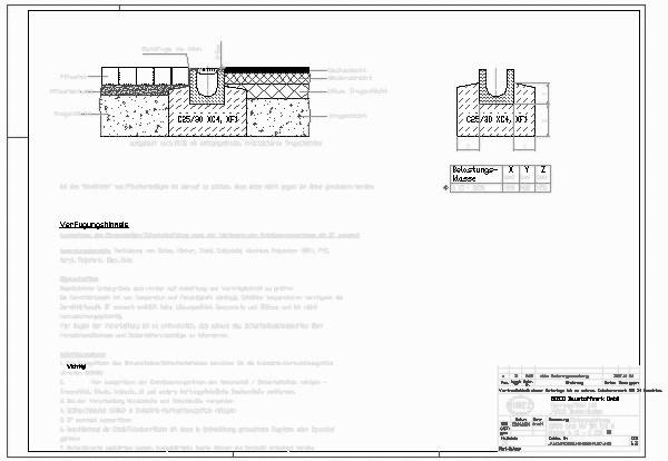 Entwässerungsrinne detail  CAD-Detail|BIRCOplus NW 100_593 | BIRCO - heinze.de