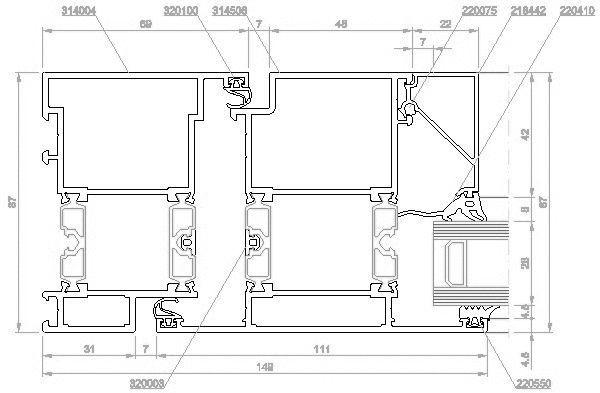 Eingangstür detail dwg  CAD-Detail Aluminiumtüren nach außen öffnend 75DI-0100   RAICO ...