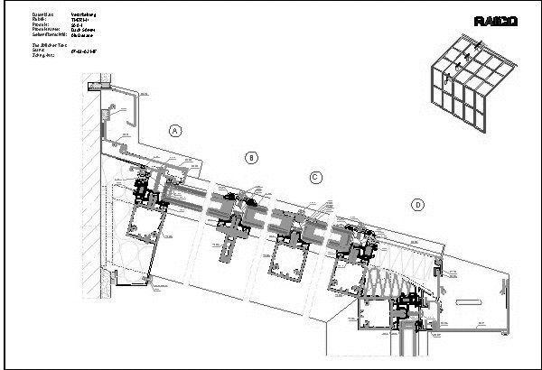 Glasfassade detail bodenanschluss  CAD-Detail|Glasdächer | RAICO Bautechnik - heinze.de