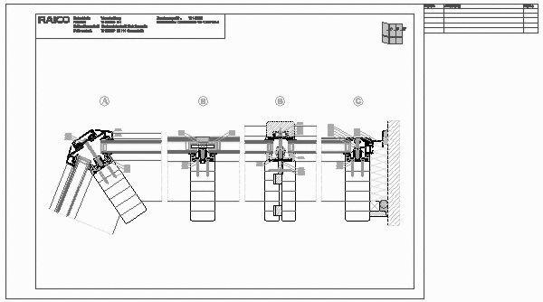 Eingangstür detail dwg  CAD-Detail|VH-0050 H-Schnitt Fassade | RAICO Bautechnik - heinze.de