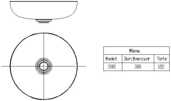 Cad Detail Kaldewei Miena Waschtisch Modell 3181 Franz Kaldewei