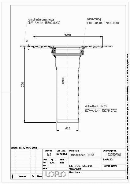 Cad Detail Loro X Balkon Grundeinh Senkr O Wd Dn 70 Lorowerk