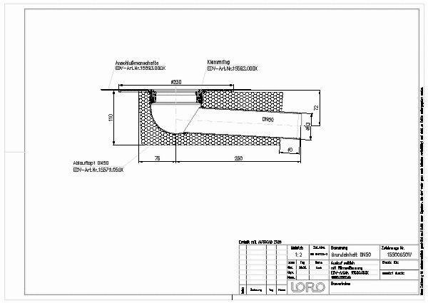 Fabulous CAD-Detail | LORO-X BALKON-GRUNDEINH.3GR.M.WD.DN 50 | LOROWERK HU52