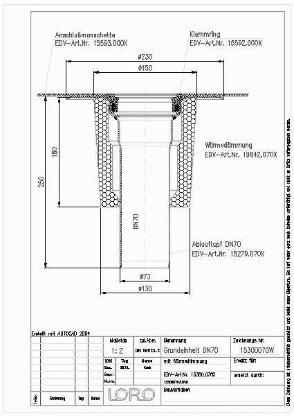 Cad Detail Loro X Balkon Grundeinh Senkr M Wd Dn 70 Lorowerk