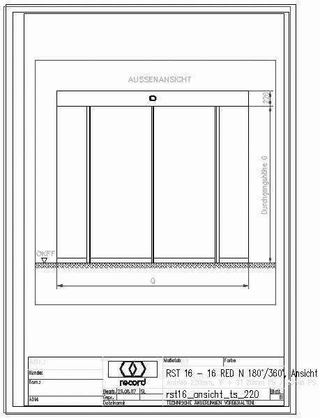 Schiebetür in trockenbauwand detail  CAD-Detail|record 16 RST | record Türautomation - heinze.de