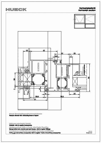 cad detail schnittpunkte hueck trigon einsatzelemente. Black Bedroom Furniture Sets. Home Design Ideas