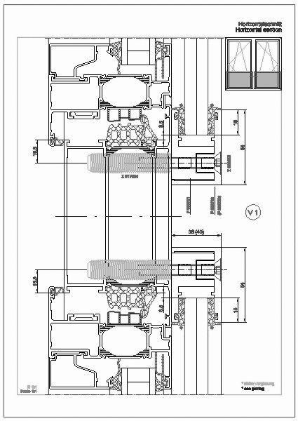 Cad detail 004000200 franz sischer balkon schnittpunkte for Fenster cad detail