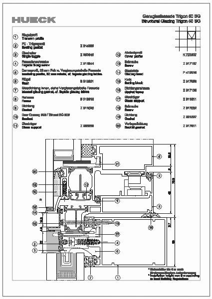 cad detail schnittpunkte hueck lambda 110 hueck. Black Bedroom Furniture Sets. Home Design Ideas