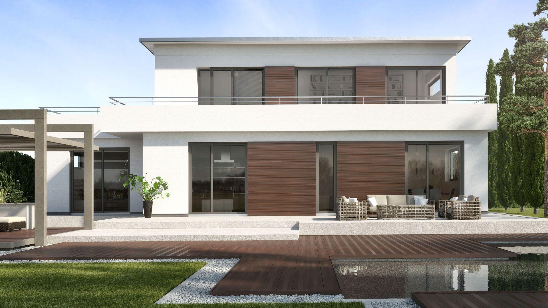 Das Megawood Vhf Fassadensystem Naturfaser Fassade Novo