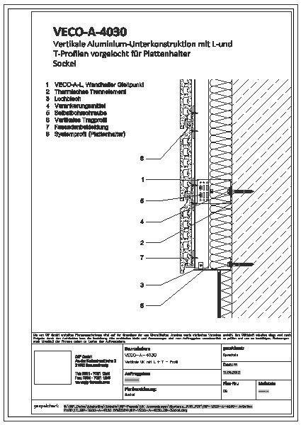Holzbau detail sockel  CAD-Detail|GIP-VECO-A-4030_09-Sockel | GIP - heinze.de