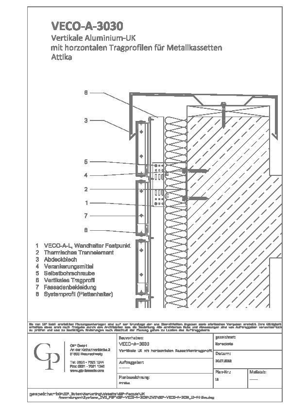Holzfassade Detail cad detail gip veco a 3030 10 attika gip heinze de