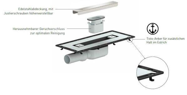 duschrinne tistoline dallmer. Black Bedroom Furniture Sets. Home Design Ideas