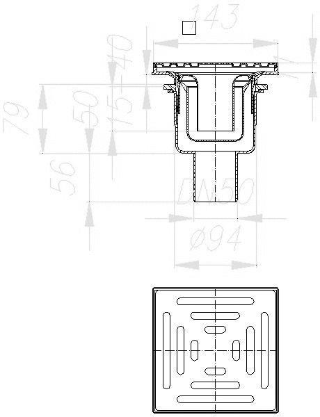 cad detail abl ufe bodengleiche duschen dallmer. Black Bedroom Furniture Sets. Home Design Ideas