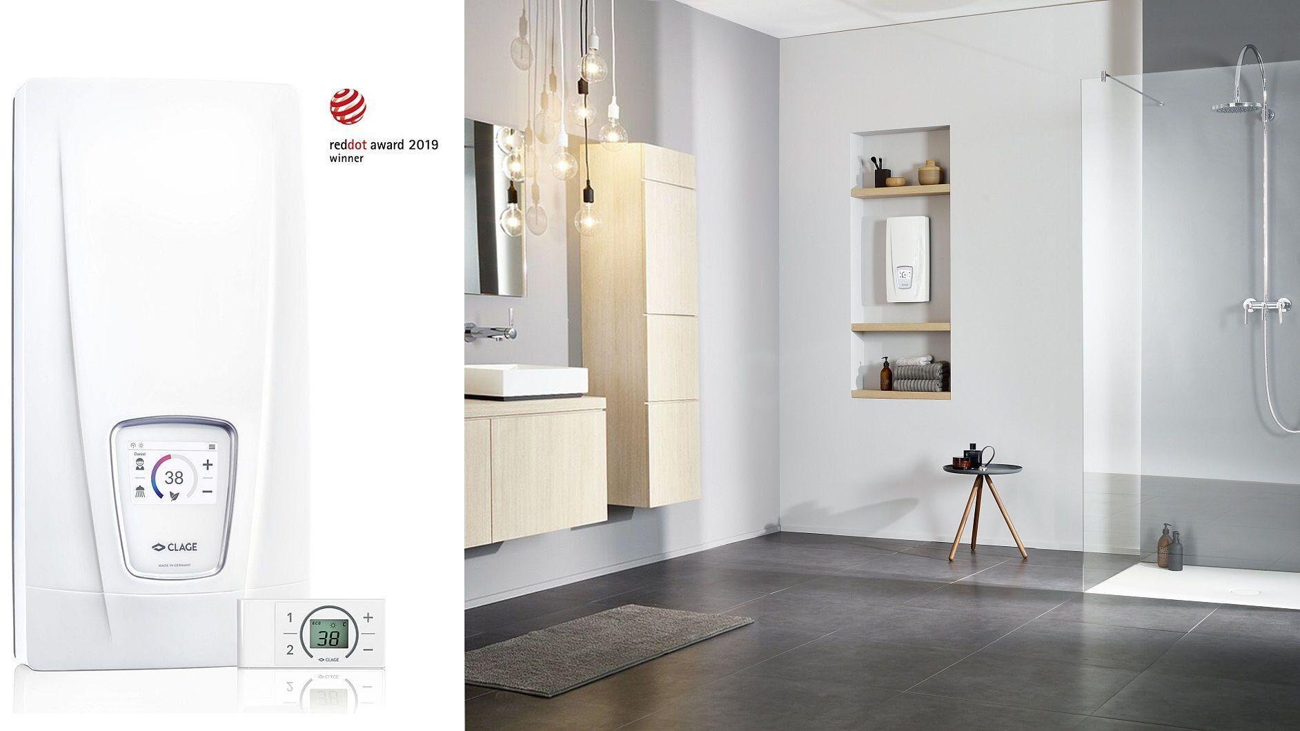 E-Komfortdurchlauferhitzer für das moderne Bad  CLAGE - heinze.de