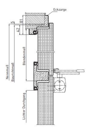 Tür vertikalschnitt  Feuerschutztüren T30 (EI2 30) - NovoPorta Premio   Novoferm ...