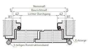 Stahleckzarge  Feuerschutztüren T90 (EI2 30) - NovoPorta Premio | Novoferm ...
