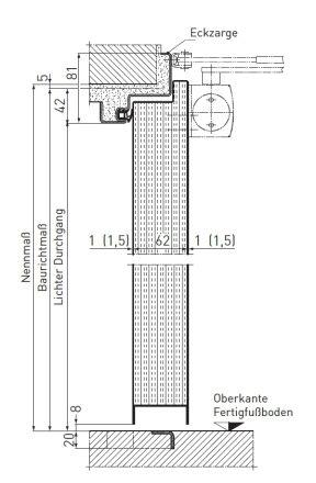 Tür vertikalschnitt  Feuerschutztüren T90 (EI2 30) - NovoPorta Premio | Novoferm ...