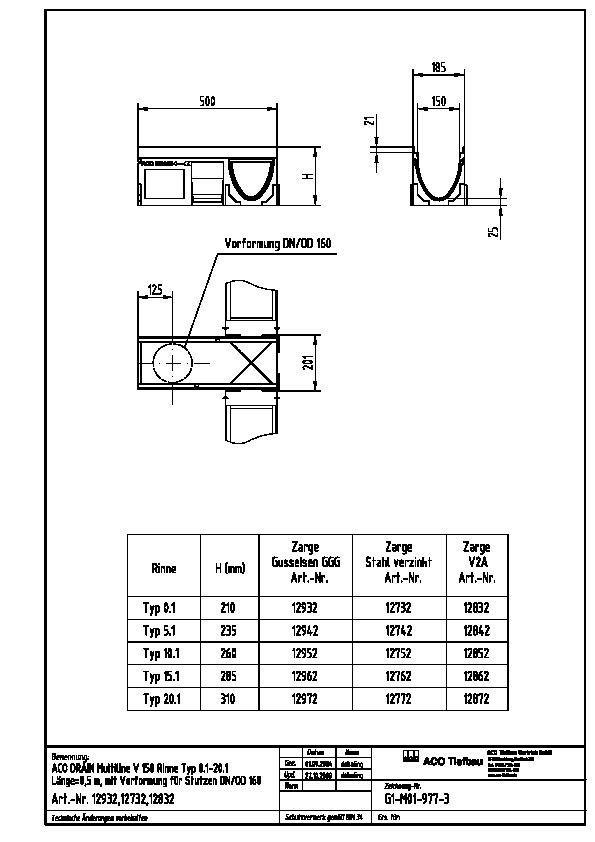 cad detail v 150 aco tiefbau. Black Bedroom Furniture Sets. Home Design Ideas