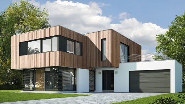 Holzverkleidung Haus holz fassadenprofile mit nut und feder horizontal oder vertikal