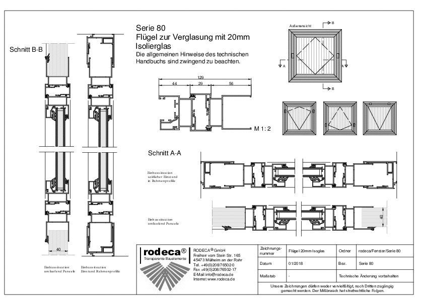 Cad detail fenstersysteme rodeca for Fenster cad detail